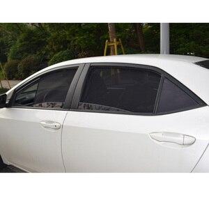 Image 3 - עבור טויוטה קורולה סדאן 2014 מגנטי נטו מגן צד אחורי Windows תריסים שמשה קדמית שמשיות מתקפל קל אחסון