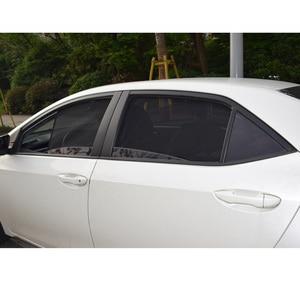 Image 3 - สำหรับ TOYOTA COROLLA ซีดาน 2014 แม่เหล็กรถหน้าต่าง Visor ด้านหลัง Windows ผ้าม่านกระจก Sunshades พับ Easy Storage