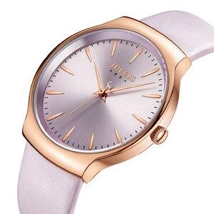 Image 2 - Nouvelle élégante montre pour femme Julius japon Movt Hours mode horloge Bracelet en cuir véritable fille anniversaire noël boîte cadeau