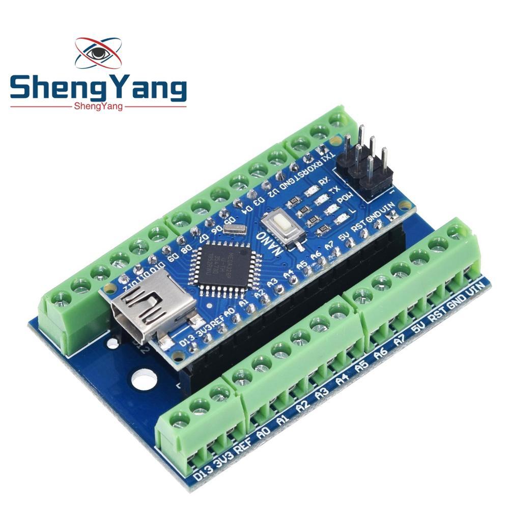 Контроллер NANO V3.0, терминальный адаптер, плата расширения, щит NANO IO, простая удлинительная пластина для Arduino AVR ATMEGA328P|Интегральные схемы|   | АлиЭкспресс