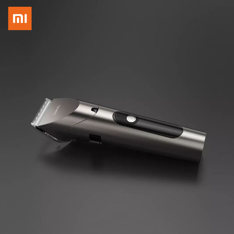 2020 New Xiaomi RIWA Personal Electric Hair Trimmer Clipper Rechargeable Strong Power Steel Cutter Head With LED Screen Washable 2