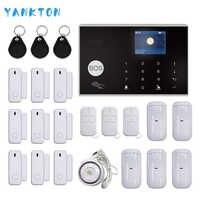 Tuya WIFI GSM Hause Einbrecher Sicherheit Alarm System 433MHz APP Control LCD Touch Tastatur 11 Sprachen Drahtlose Alarm System kit