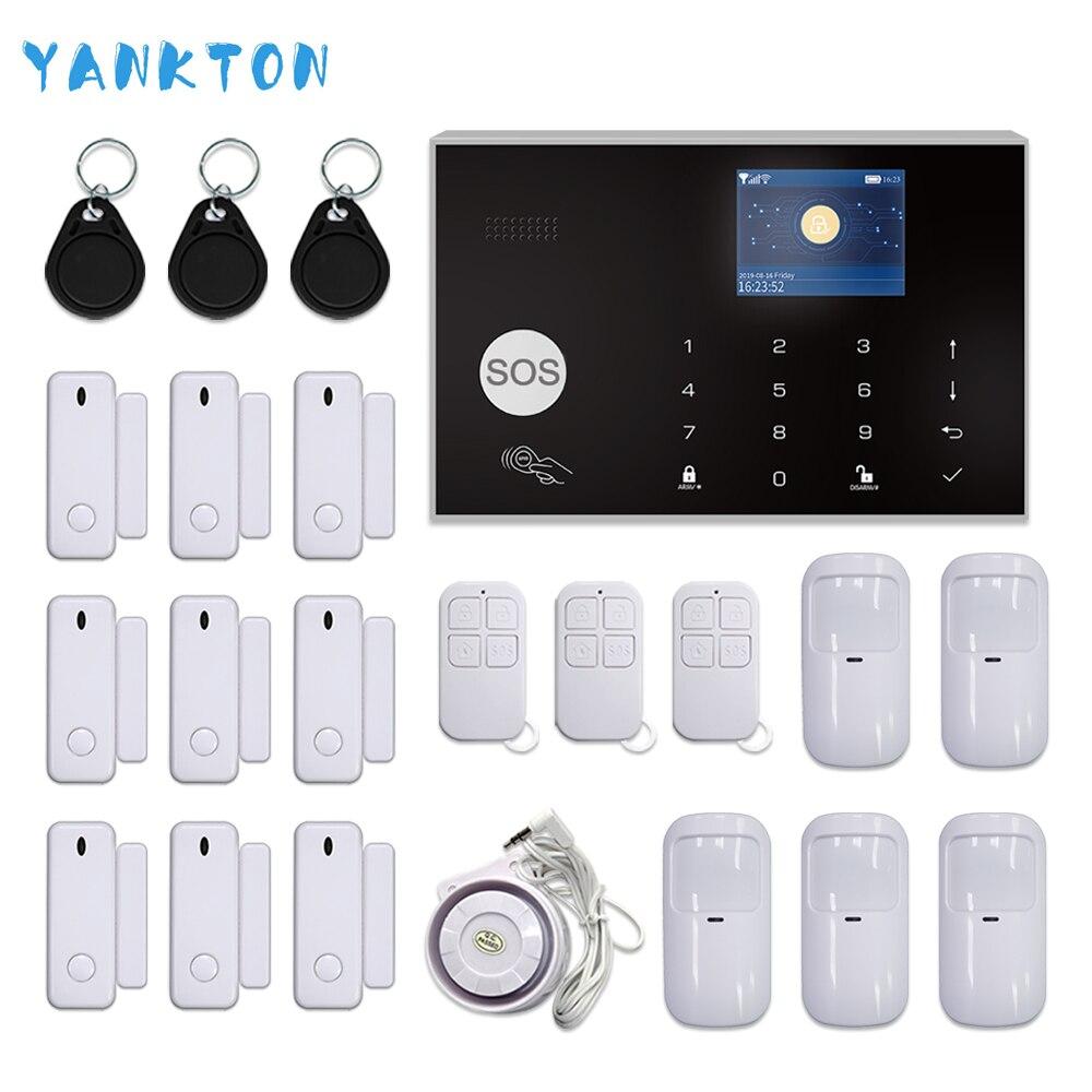 Tuya système d'alarme sécurité à la maison GSM système d'alarme sans fil système d'alarme Kit APP contrôle avec détecteur de numérotation automatique 433mhz maison sécurité alarme maison sans fil francais gsm detecteur
