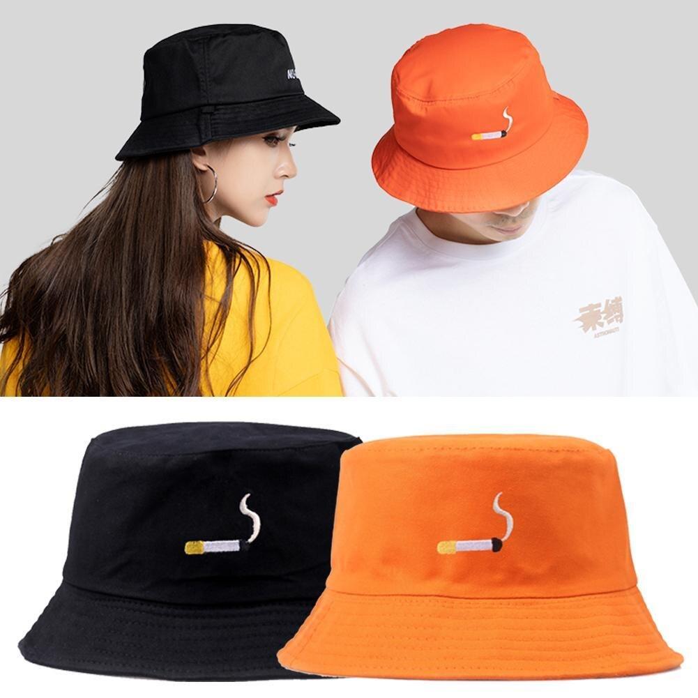 Portable Solid Color Folding Fisherman Sun Hat Outdoor Men Women Bucket Cap Chic