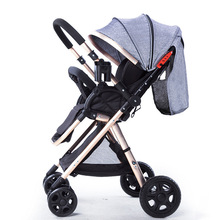 2019 New High Landscape Lightweight Four Wheel Baby Stroller Can Sit and Lie Inf