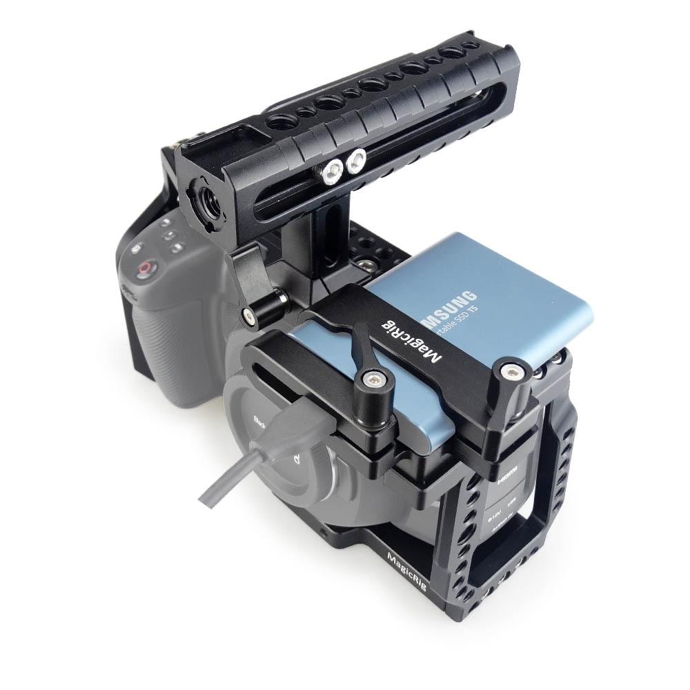 MAGICRIG BMPCC 4K Camera Cage With NATO Handle  + T5 SSD Card Mount Clamp For Blackmagic Pocket Cinema Camera BMPCC 4K /BMPCC 6K