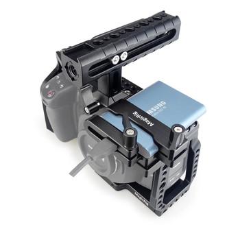 MAGICRIG BMPCC klatka operatorska 4K z uchwytem NATO + montaż zacisku karty T5 SSD do kamery kieszonkowej Blackmagic BMPCC 4 K BMPCC 6K tanie i dobre opinie Ze stopu aluminium ze stopu aluminium Aparaty cyfrowe Cine 570g 193 x 75 x 115mm Blackmagic Pocket Cinema Camera 4K Camera 6K