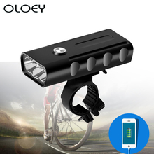 Bicycle LED Light 3 Mode T6 5200mAh Waterproof Lamp Bike USB Front Light Cycling Flashlight Torch Headlight Accessories oloey bicycle light t6 led 5200mah headlight lamp usb rechargeable front light night cycling waterproof bike light flashlight
