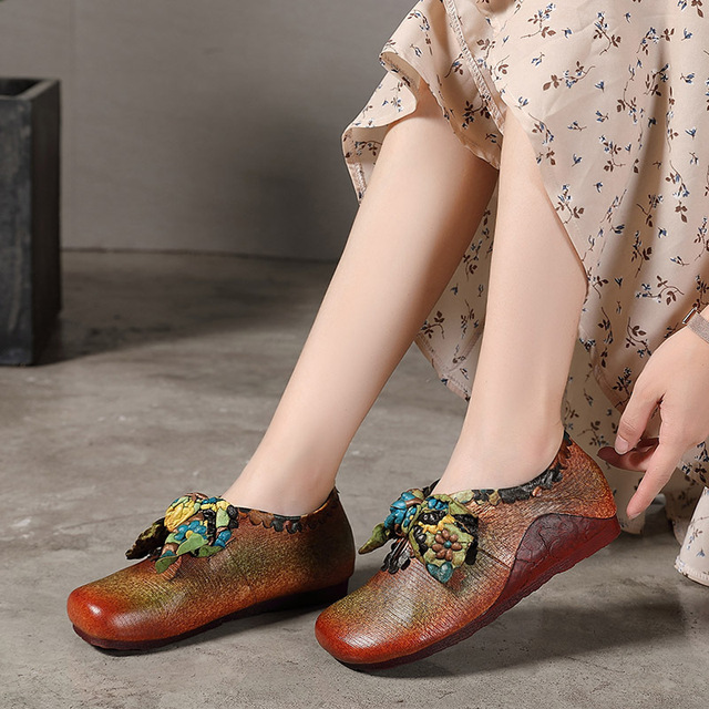 Women Leather Casual Flat Shoe
