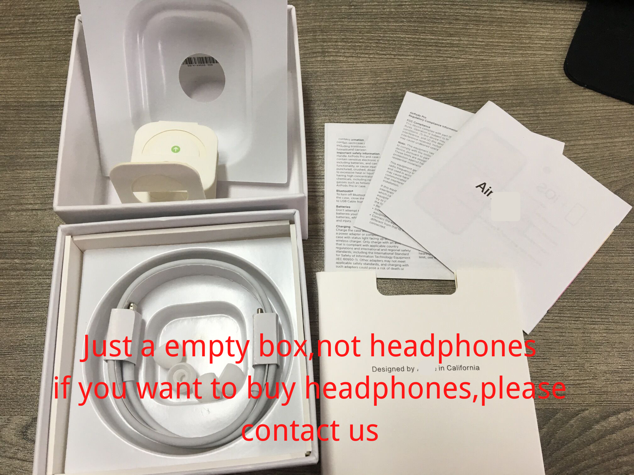 1pcs For Apple Airpods Pro Empty Airpods Pro Package Packing Box