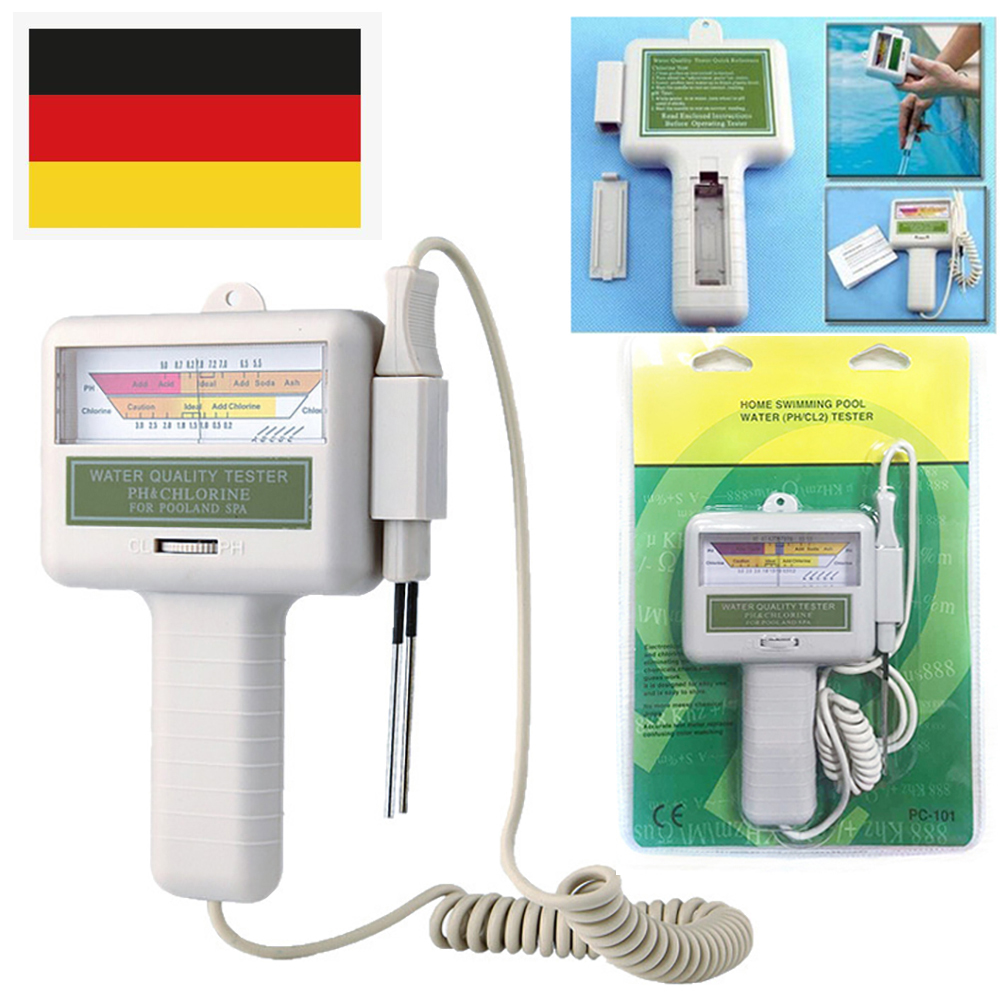Water Quality PH CL2 Chlorine Tester Monitor for Swimming Pool Aquarium Meter
