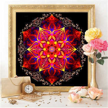 HUACAN 5D Diamond Painting Flowers Full Square Embroidery Mandala Mosaic Handmade Cross Stitch Home