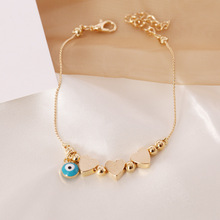 Pentacle Star Love Heart Charm Bracelet for Women Gold Color Link Chain Evil Eye Charm Bracelet All-Seeing Eye Jewelry Gifts