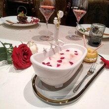 Mini tasse à Cocktail, baignoire créative, Milkshake boisson froide, tasse à bière, pompe électrique, Spray d'eau, Conception artistique, récipient alimentaire