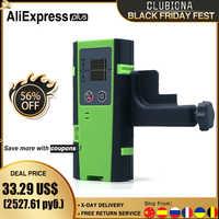 Clubiona-Detector o receptor láser de línea Vertical y Horizontal, 50M, modo de pulso al aire libre, rojo o Rayo verde