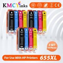 Ink-Cartridges Printers 3525 6525 5525 HP655 Deskjet 6520 Kmcyinks for 4615 4625 655XL