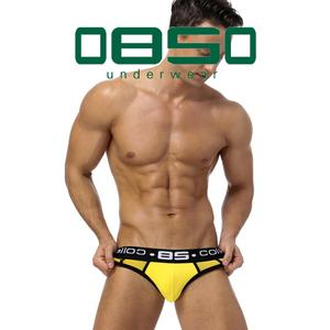 Men Underwear Briefs U-Pouch Slip Mesh Homme Breathable Hot-Sale Tanga 0850 Cueca