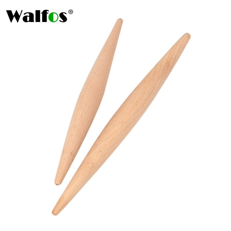 WALFOS 23 cm /28 cm oklava ahşap fondan kek hamur açma makinesi yapışmaz pişirme aracı alet makarna hamur cilt makinesi çift