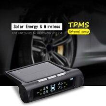 Система контроля давления в шинах TPMS Универсальная беспроводная с 4 внешними датчиками отображение давления и температуры в реальном времени