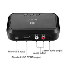 Bluetooth 4.1 Receiver NFC USB Disk Music Reading Stereo Wireless Adapter 3.5mm AUX RCA Car Speaker Bluetooth Audio Receiver(China)
