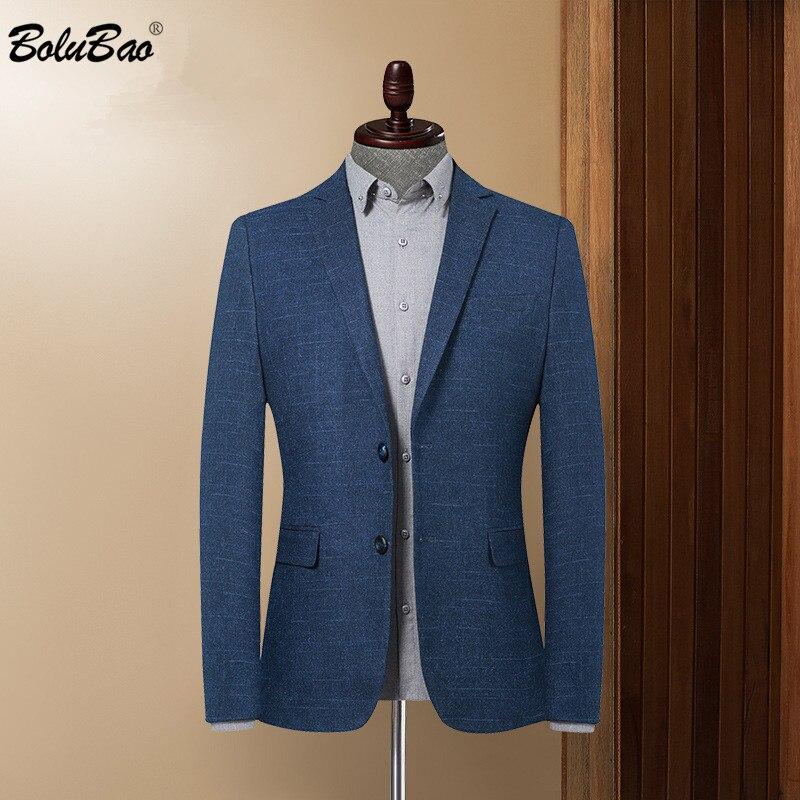 BOLUBAO Brand Men Blazer Coats Slim Fit Business Men's Turndown Collar Office Suit Fashion Warm Autumn Wool Blazers Coat Male