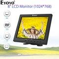 Eyoyo EM08B 8 дюймов портативный мини ТВ монитор TFT ЖК-экран 1024x768 дисплей с VGA BNC HDMI для монитор для видеонаблюдения