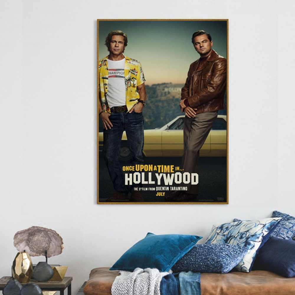 Once Upon a Time in Hollywood New Quentin Tarantino Movie Art Painting Silk Canvas Poster Wall Home Decor