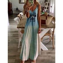 Платье женское длинное с открытыми плечами и буквенным принтом