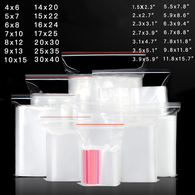 200 шт./лот прозрачный пакет с замкоммолнией зип пакеты, пластиковые упаковочные пакеты с застежкой-молнией, пластиковые пакеты для ювелирны...