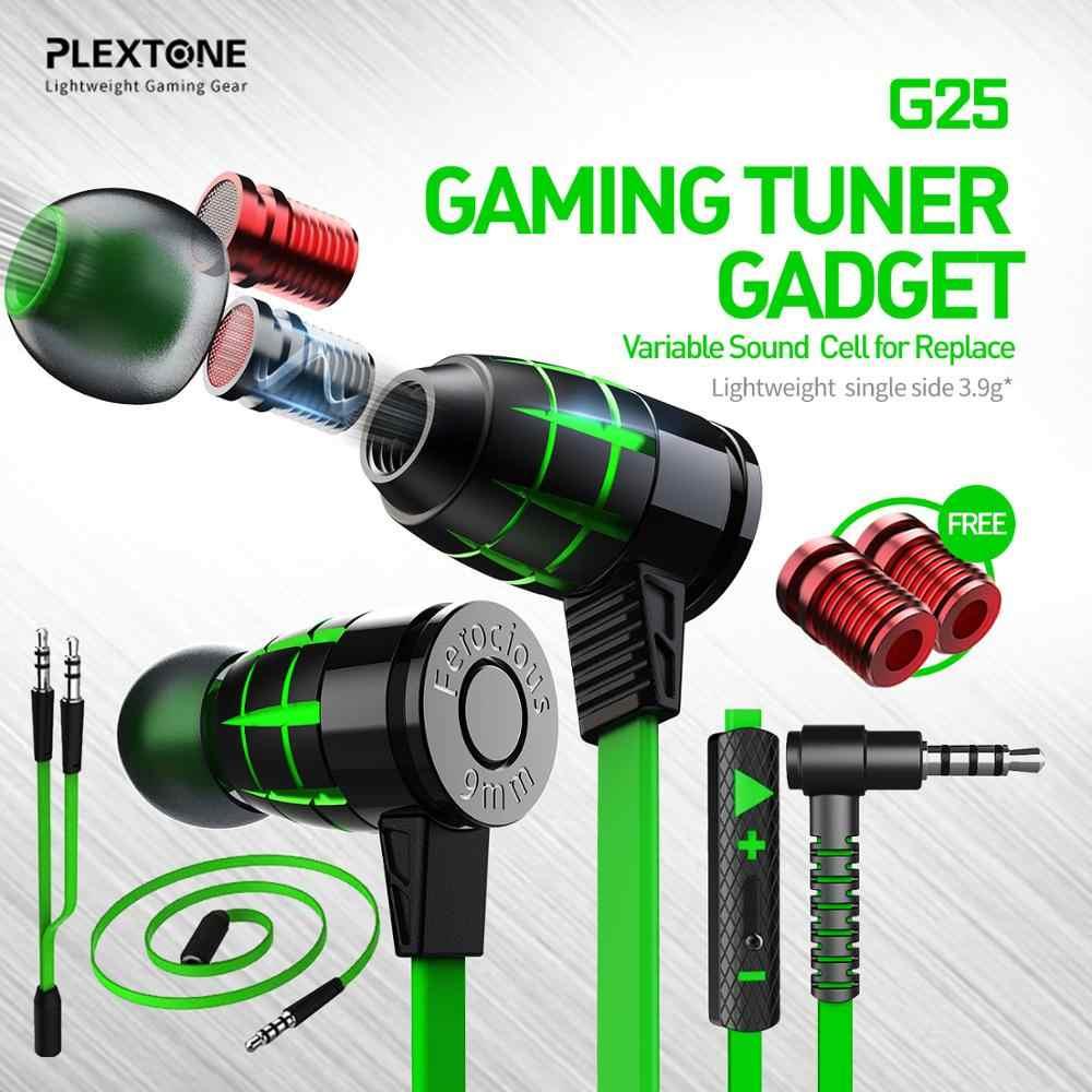 Plextone G25 Gaming Earphones-Green