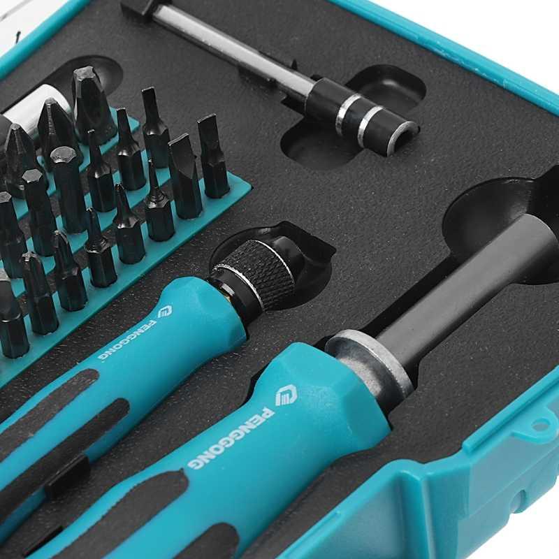 58-In-1 Set Precision Screwdriver Hex Phillips Torx Slotted Bit Kit Repair Tools