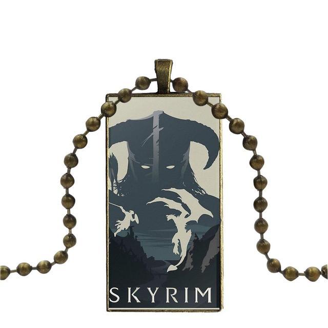 бижутерия Skyrim  с длинной подвеской  для девочек -