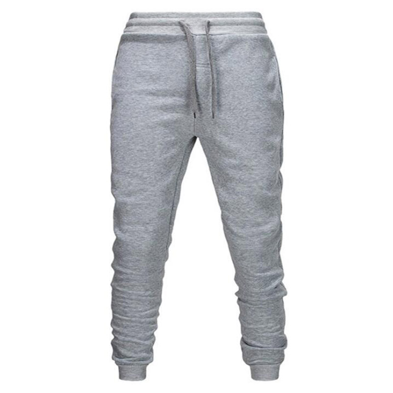 2019 New Men Brand Male Trousers Casual Pants Funny Print  Sweatpants Jogger Grey Casual Elastic Cotton Fitness Workout