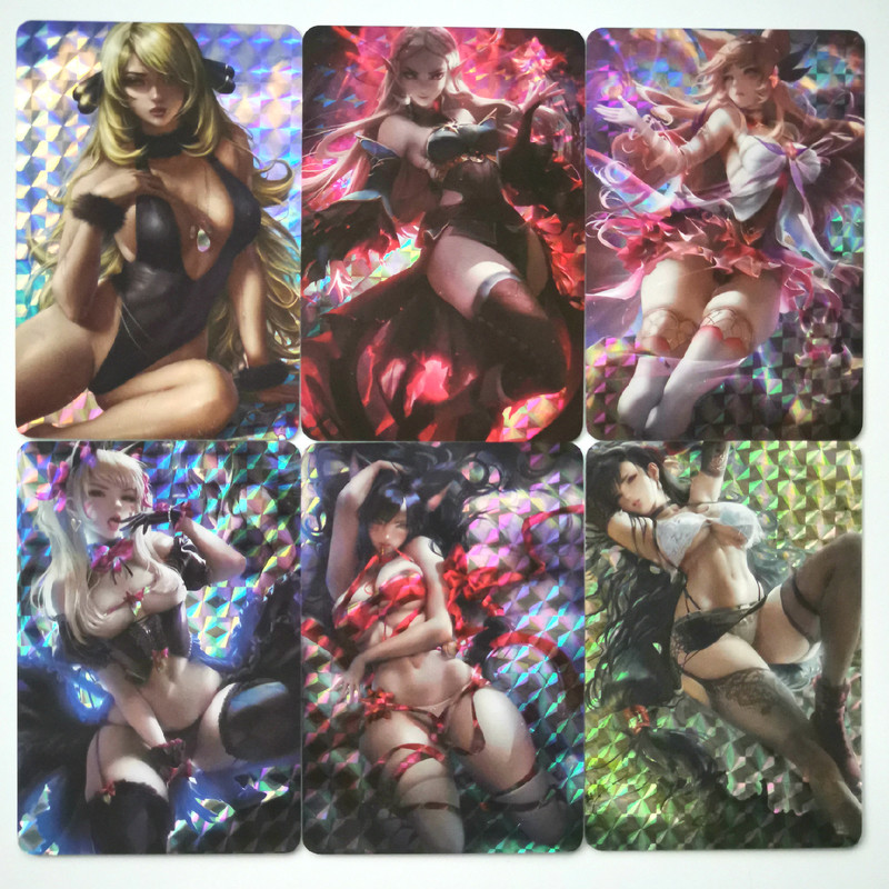27pcs/set Sexy Girl KDA Sexy Beauty KDA Ahri Akali Kaisa Hobbies Hobby Collectibles Game Collection Anime Cards Free Shipping
