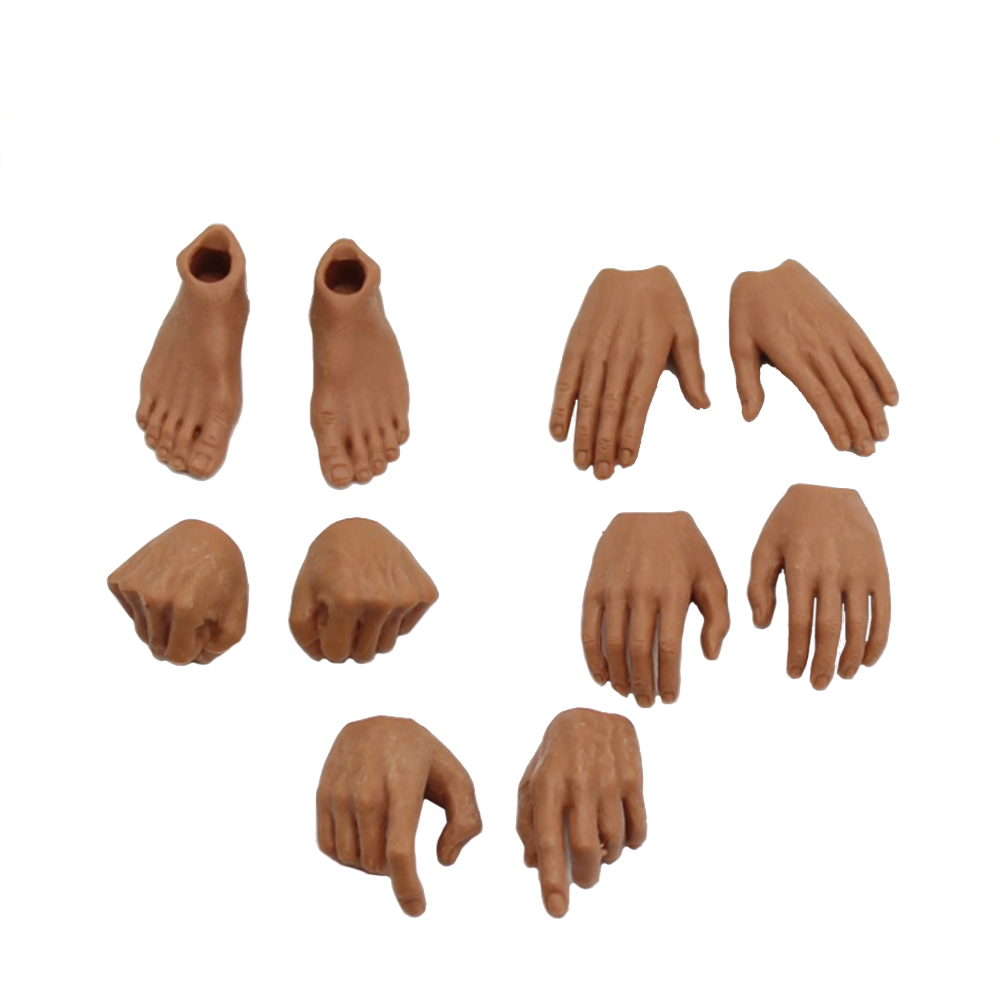 1/6 Scale Male 4 Pairs Hand And 1 Pair Feet Types For 12'' Action Figures Bodies Accessories Toys Gifts DIY