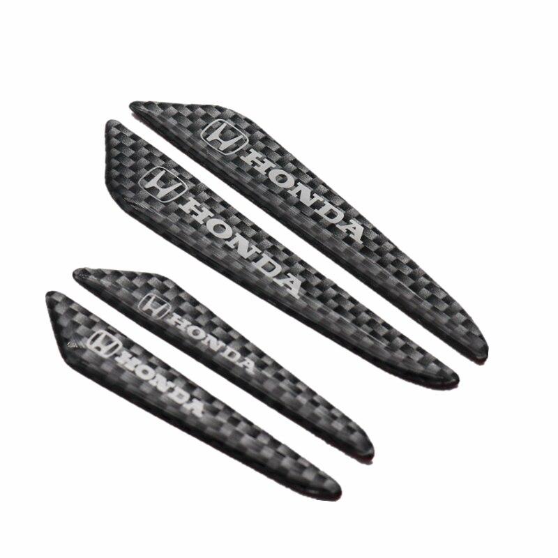 4 pçs estilo do carro fita de fibra carbono borda lateral da porta etiqueta protetora para honda accord vezel onsight civic apto automóvel