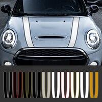 Автомобильный капот капота, наклейки в полоску, декоративные наклейки для Mini Cooper S JCW R55 R56 R60 R61 F54 F55 F56 F60 земляк, аксессуары