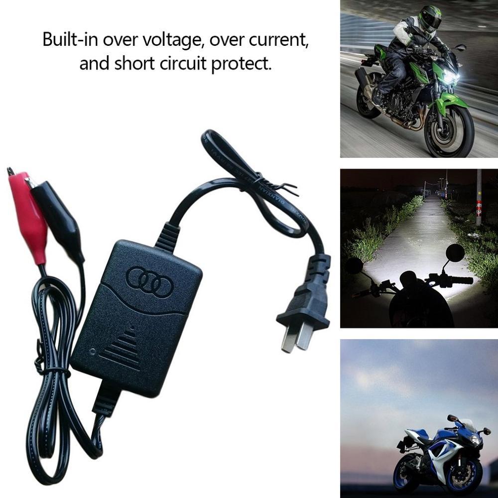 Motocicleta carregador de bateria auto proteção contra curto-circuito 12 v 1300ma selado chumbo ácido recarregável carregador de bateria automática carro
