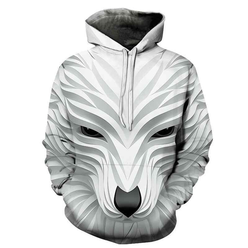 2019 매직 컬러 갤럭시 늑대 까마귀 까마귀 남성 여성 패션 봄 가을 풀오버 스웨터 스웨트 옴므 3d tracksuit