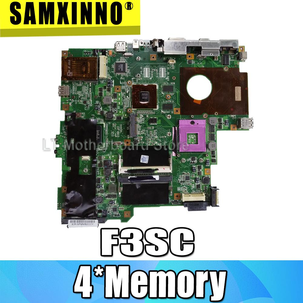 For ASUS F3SG Laptop Motherboard 4*Memory F3SG X52S Mainboard 100/% Test