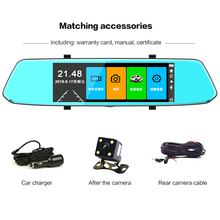 7 inch Driving Recorder Mirror Recorder Automatic Cycle Reversing Image Traffic Record Reversing Video