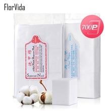 FlorVida 700pcs Pack Soft Cotton Pads Makeup Remover UV Gel Polish Soak Off Nail Art Tool Accessories