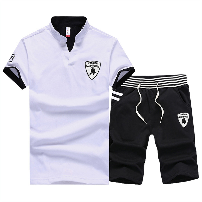 2017 Summer New Style Men Fashion Casual T-shirt Suit BULL T-shirt Short Sleeve Running Costume Sports Set