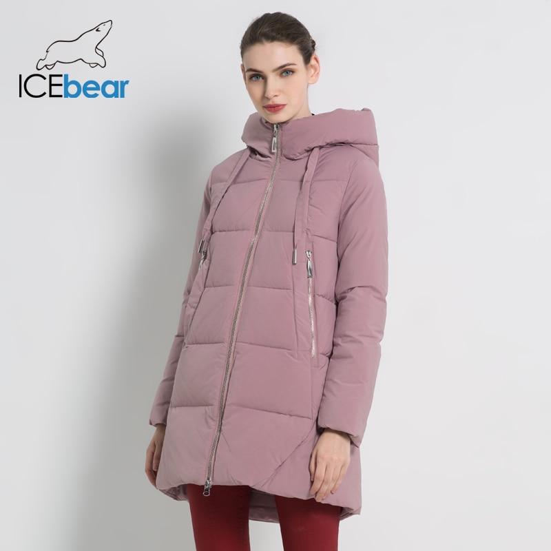 ICEbear 2019 Neue Winter frauen Jacke Hohe Qualität Lange Mantel Mode frauen Kleidung Marke Winddicht Warme Jacke GWD18272I-in Parkas aus Damenbekleidung bei  Gruppe 1