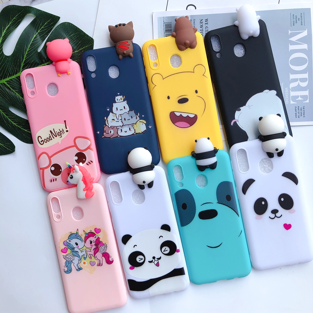 Honor 8X Case for etui Huawei Y6 Y7 2019 Silicon Case 3D Kawaii Soft Cover for Huawei Y6 Y7 Prime 2019 Honor 8X 8A 8C Phone Case