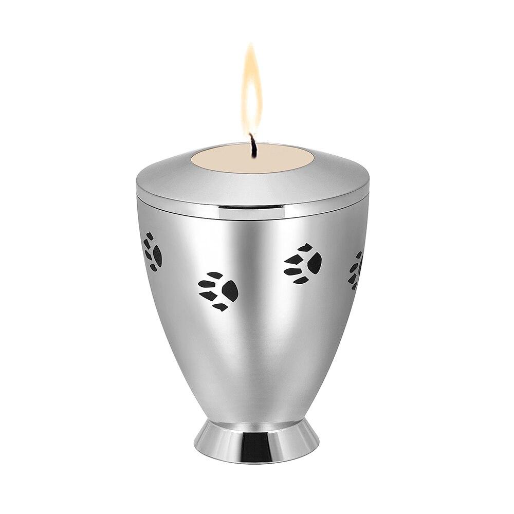 IJU048 316L acier inoxydable gravé souvenir crémation bougeoir pour cendres urnes cercueil funéraire pour mémorial