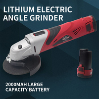 2 battery TCH12V lithium rechargeable angle grinder, angle grinder, cutting machine, wireless grinder