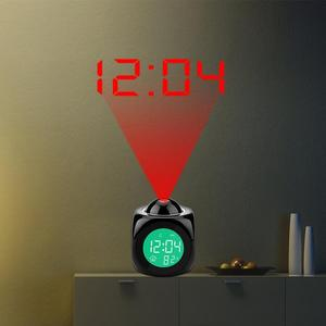 Creative Attention Projection Digital Weather LCD Snooze Clock Bell Alarm Display Backlight LED Projector Home Clock Timer L8B1