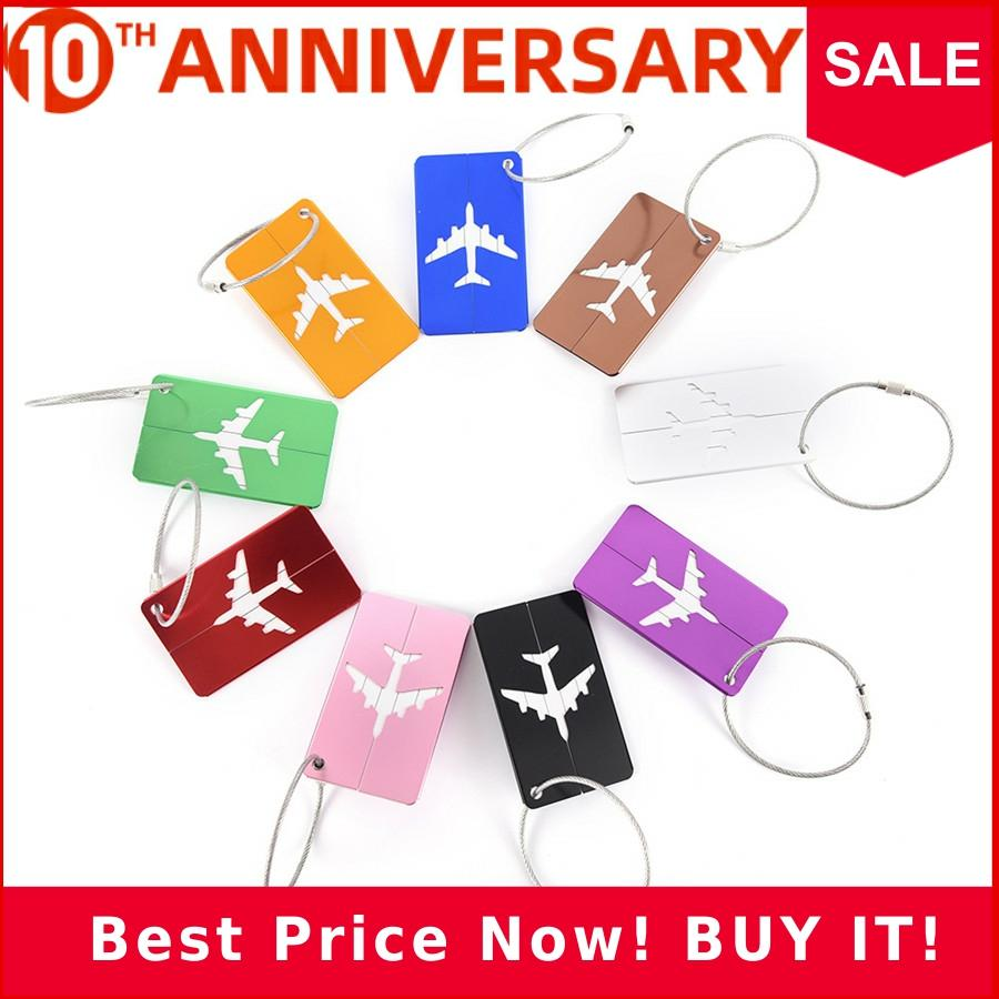 Luggage&bags Accessories Airplane Cute Novelty Funky Travel Luggage Label Straps Suitcase Aluminium Alloy Luggage Tags LT17a