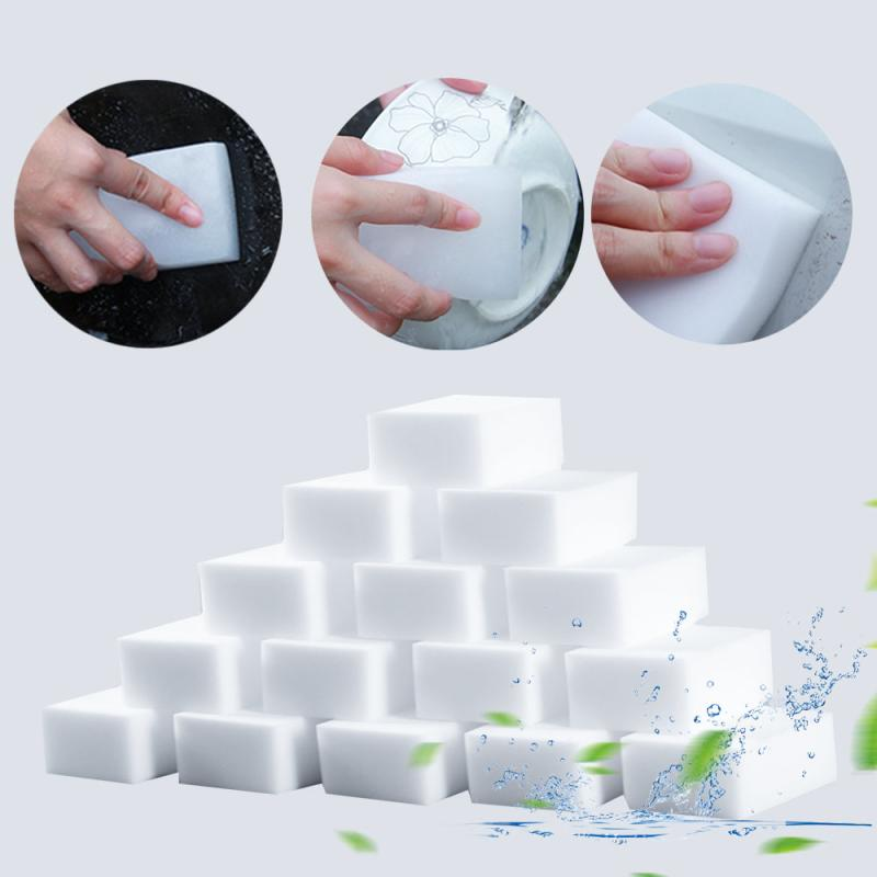 20/40/60Pcs White Magic Sponge Eraser Cleaning Melamine Foam Cleaner Kitchen Pad accessories Multi-functional Home Clean washing